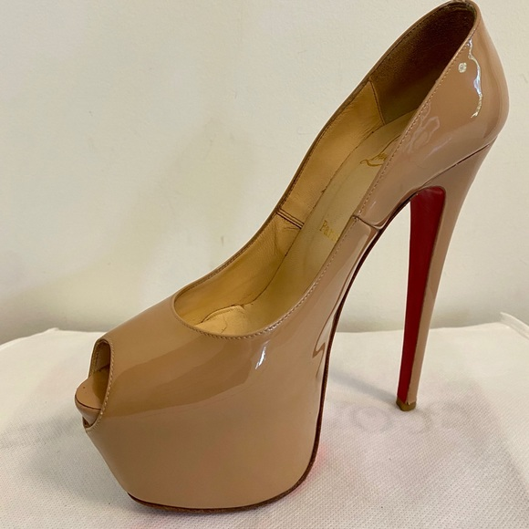 Authentic Christian Louboutin patent leather heels